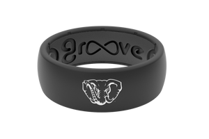 Original College Alabama Black/Mascot - Groove Life Silicone Wedding Rings