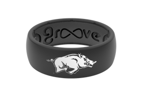 Original College Arkansas Black - Groove Life Silicone Wedding Rings