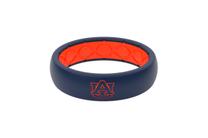 Thin College Auburn Logo - Groove Life Silicone Wedding Rings