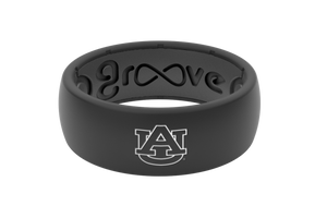 Original College Auburn Black Logo - Groove Life Silicone Wedding Rings