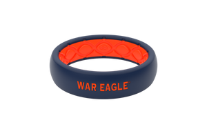 Thin College Auburn War Eagle - Groove Life Silicone Wedding Rings
