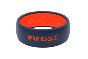 Original College Auburn War Eagle - Groove Life Silicone Wedding Rings
