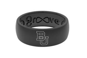 Baylor Black Silicone Rings