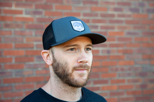 Bison Black Mesh Trucker Hat Lifestyle Adventure Gear