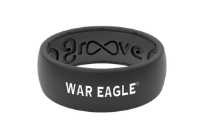 Original College Auburn Black War Eagle - Groove Life Silicone Wedding Rings