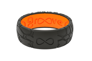 Original Dimension Kryptek Midnight Black/Orange - Groove Life Silicone Wedding Rings