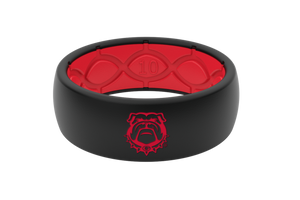Black Red Georgia Alternate Collegiate Silicone Rings