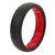 Thin Solid Midnight Black/Raspberry Red - Groove Life Silicone Wedding Rings