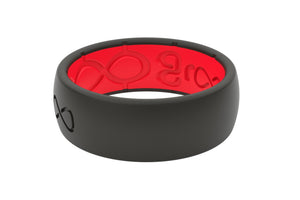 Original Solid Midnight Black/Raspberry Red - Groove Life Silicone Wedding Rings
