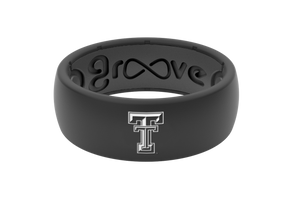 Original College Texas Tech Black - Groove Life Silicone Wedding Rings