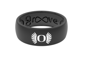 Original College Oregon Black Wings - Groove Life Silicone Wedding Rings