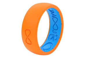 Blaze Orange Silicone Wedding Bands