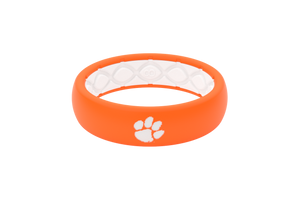 Thin College Clemson - Groove Life Silicone Wedding Rings