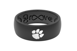 Original College Clemson Black - Groove Life Silicone Wedding Rings
