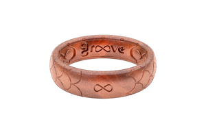 Thin Dimension Scales Copper - Groove Life Silicone Wedding Rings