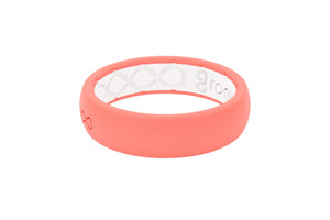 Coral Silicone Wedding Rings