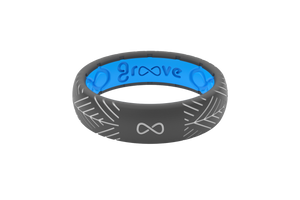 Silicone Ring Groove Dimension | Arrows - Deep Stone Grey - Thin Eternity