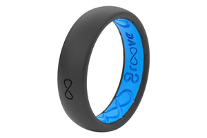 Deep Stone Grey Silicone Wedding Bands