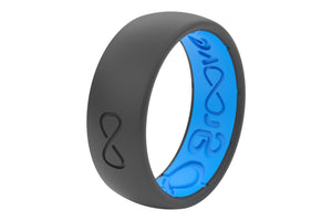 Deep Stone Grey Silicone Rings