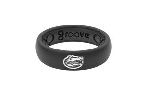 Thin College Florida Black Mascot - Groove Life Silicone Wedding Rings