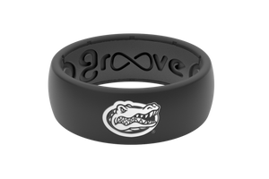 Original College Florida Black Mascot - Groove Life Silicone Wedding Rings