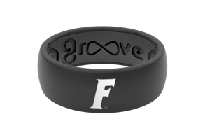 Original College Florida Black Logo - Groove Life Silicone Wedding Rings