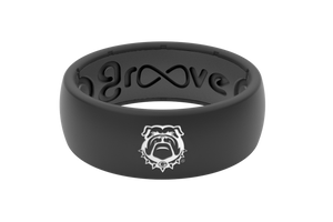Original College Georgia Black Mascot - Groove Life Silicone Wedding Rings