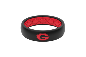 Thin College Georgia Logo - Groove Life Silicone Wedding Rings