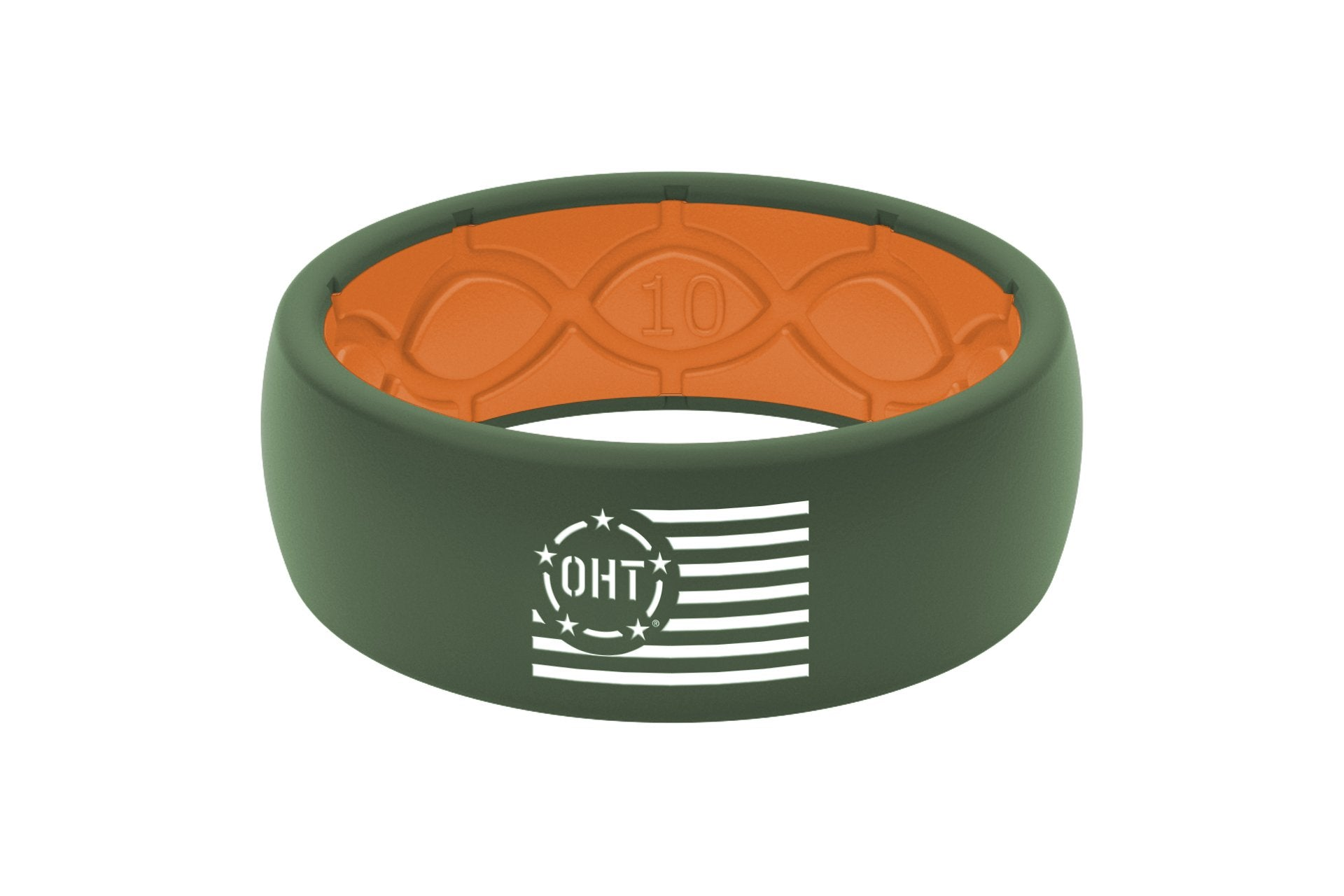 574279673f00f OHT Silicone Ring - White Flag/Moss Green