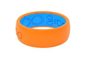 Original Solid Blaze Orange - Groove Life Silicone Wedding Rings