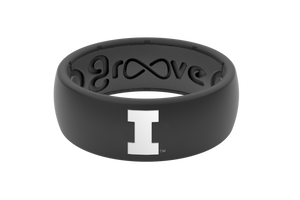 Original College Illinois - Groove Life Silicone Wedding Rings