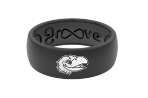 Original College Kansas - Groove Life Silicone Wedding Rings