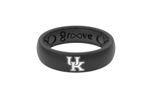 Thin College Kentucky Black - Groove Life Silicone Wedding Rings