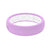 Lavender Groove Silicone Wedding Bands