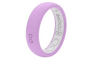 Thin Solid Lavender - Groove Life Silicone Wedding Rings