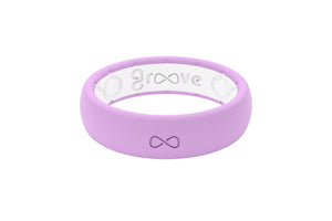 Lavender Silicone Wedding Rings