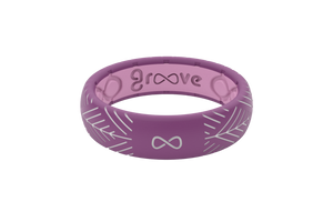 Silicone Ring Groove Dimension | Arrows - Lilac - Thin Eternity