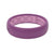 Lilac Groove Silicone Wedding Bands