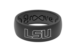 Original College LSU Black Outline - Groove Life Silicone Wedding Rings