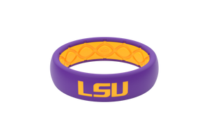 LSU Collegiate Silicone Rings Thin