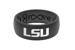 Original College LSU Black Full - Groove Life Silicone Wedding Rings