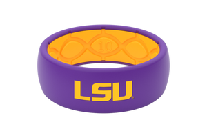 Original College LSU Full - Groove Life Silicone Wedding Rings