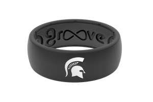 Michigan State Silicone Ring - Black - Groove Life Silicone Wedding Rings