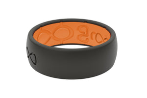 Original Solid Midnight Black/Orange - Groove Life Silicone Wedding Rings
