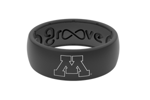 Original College Minnesota Black Outline - Groove Life Silicone Wedding Rings