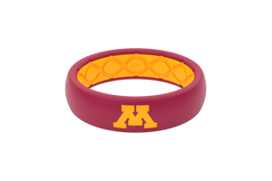 Thin College Minnesota Full - Groove Life Silicone Wedding Rings