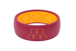 Original College Minnesota Outline - Groove Life Silicone Wedding Rings