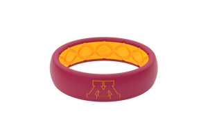 Thin College Minnesota Outline - Groove Life Silicone Wedding Rings