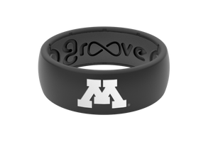 Original College Minnesota Black Full - Groove Life Silicone Wedding Rings