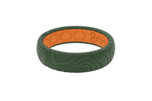 Groove Dimension | Topo Original Thin | Moss Green - Groove Life Silicone Wedding Rings